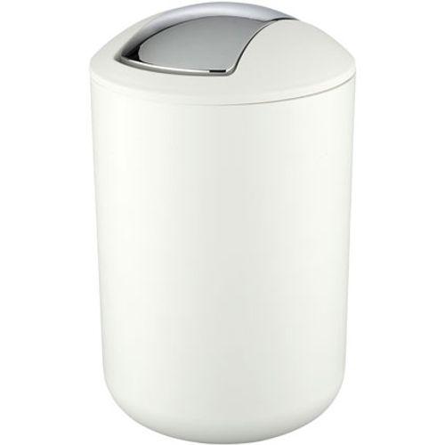 Poubelle Wenko 'Brasil' matière synthétique blanc 6,5 L