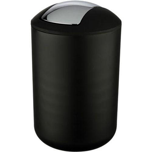 Poubelle Wenko 'Brasil' matière synthétique noir 6,5 L