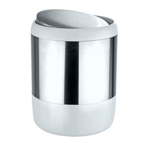 Poubelle Wenko 'Loft' métal chrome 6 L