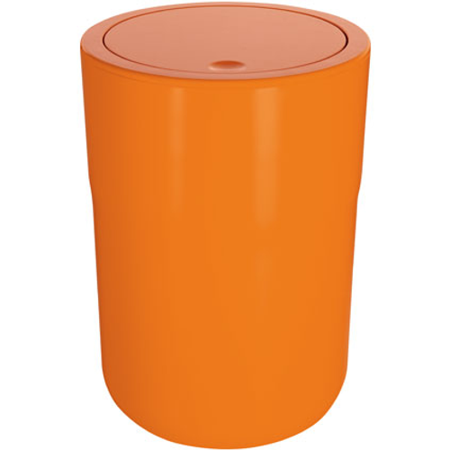Poubelle Spirella 'Cocco' polystyrol orange 5 L
