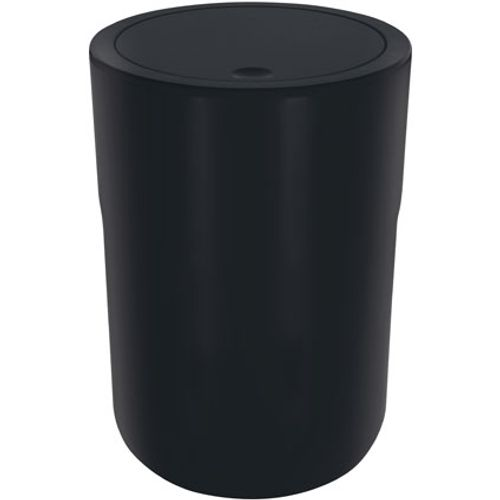 Poubelle Spirella 'Cocco' polystyrol noir 5 L