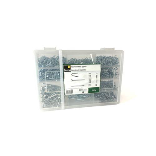 Assortiment de clous Sencys acier galvanisé 20 x 1,2 mm - 2425 pcs