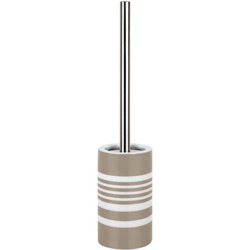 Brosse de toilette Spirella 'Stripe' taupe