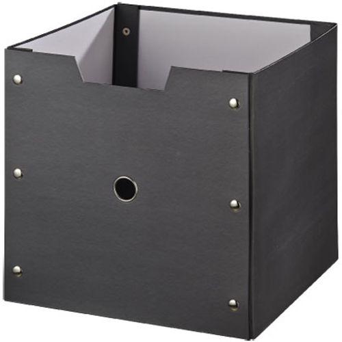 Boîte de rangement Decomode carton anthracite 31cm