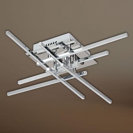 Wofi plafondlamp 'Orbit' 8x28W chroom LED