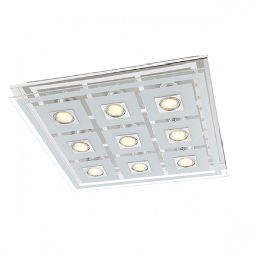 Wofi plafondlamp 'Zoe' 9x3,2W wit LED