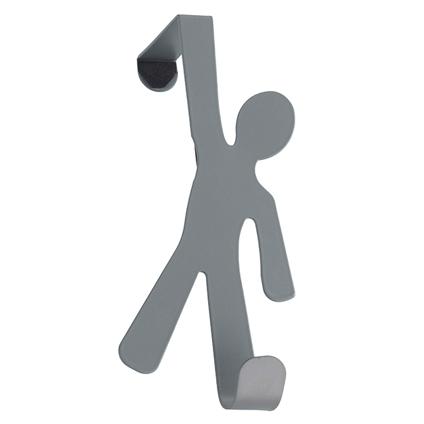 Wenko deurhaak 'Boy' grijs 4 cm