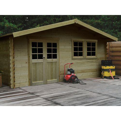 Abri de jardin Solid 'Vernier' bois imprégné 26,46 m²