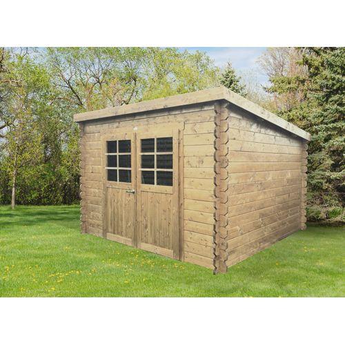 Abri de jardin Solid 'Brest' bois imprégné 7,53 m²