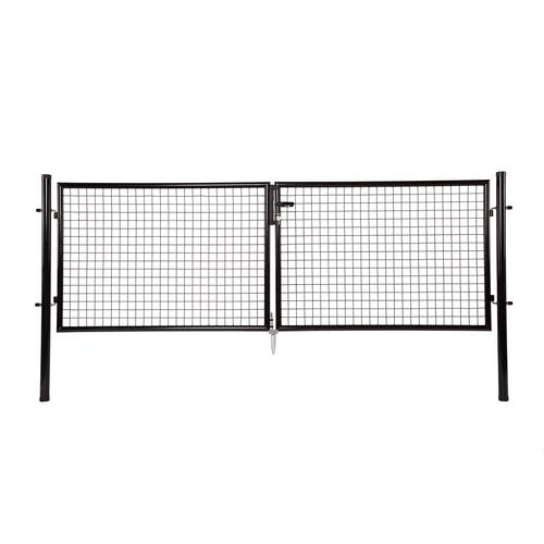 Giardino dubbele poort zwart 100 x 300 cm