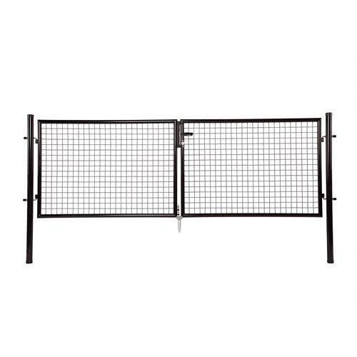 Giardino dubbele poort zwart 200 x 300 cm