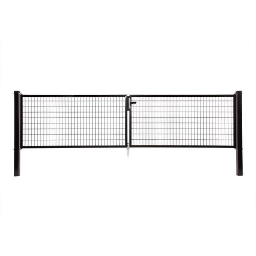 Giardino dubbele poort Napoli H 120 x L 2x200cm zwart