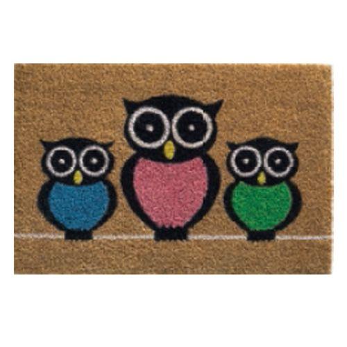 Paillasson 'Ruco Owls' beige 40 x 60 cm