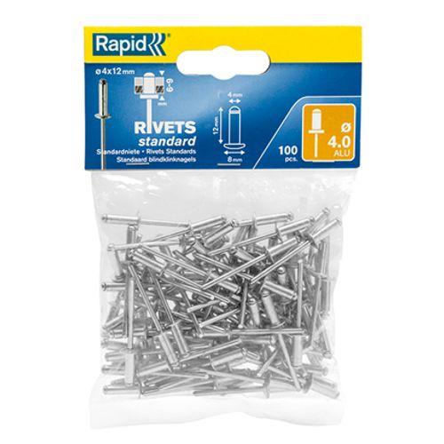 Rapid blindklinknagel aluminium 8 x 4 mm - 100 stuks
