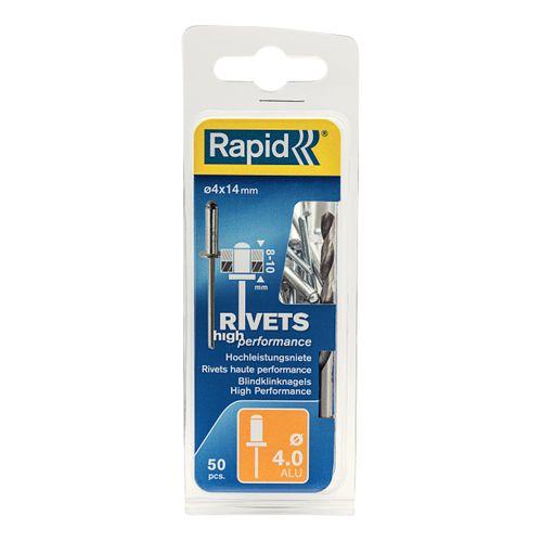 Rivet Rapid aluminium 14 x 4 mm - 50 pcs