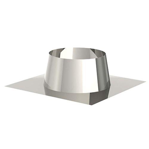 Saninstal solin pour toiture plate 0° - 5° pellet inox Ø 80mm