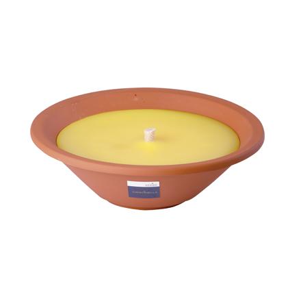 Spaas kaars terracotta 'Royal Flame' citronella