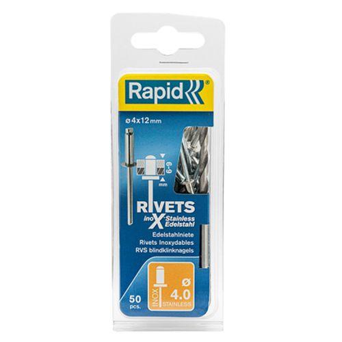 Rivet Rapid acier inoxydable 12 x 4 mm - 50 pcs