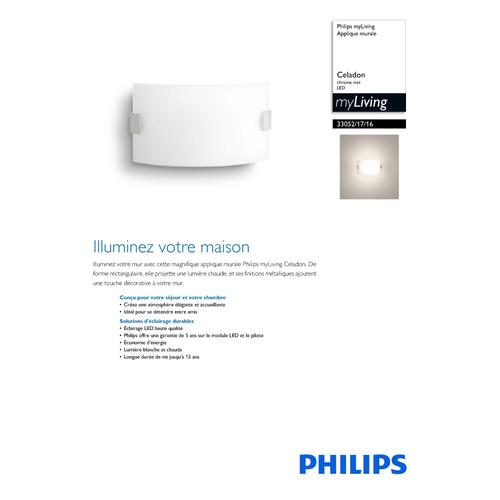 Philips myLiving wandlamp 'Celadon' grijs 1x3.5W