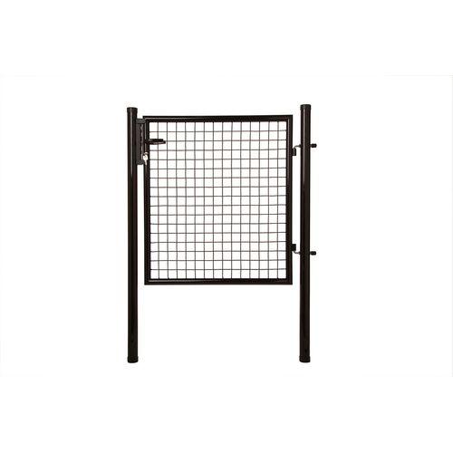 Giardino enkele poort zwart 120 x 100 cm