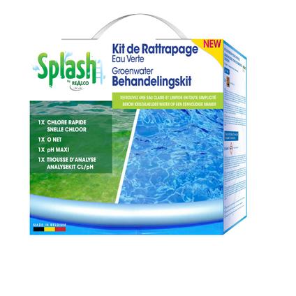 Splash kit voor retrofit groen water