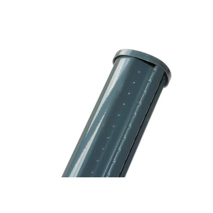 Poteau profilé Giardino gris 48 mm x 175 cm