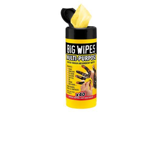 Big Wipes scrub- en reinigingsdoekjes Industrial Multi-Purpose 40 stuks