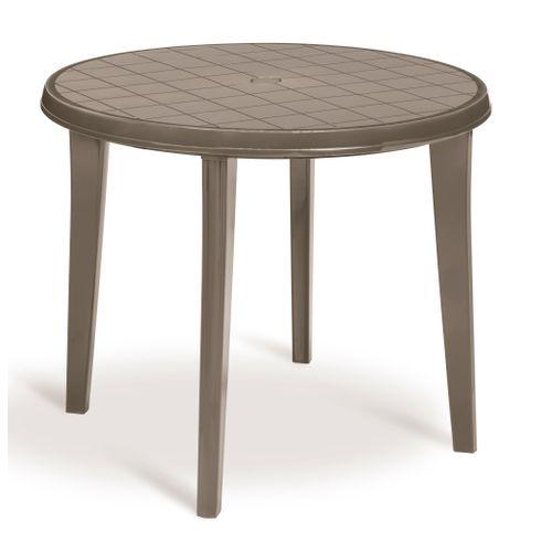 Table de jardin Jardin 'Lisa' résine cappuccino Ø 90 cm