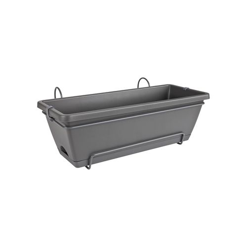 Jardinière Elho 'Barcelona All In 1' anthracite 50 cm