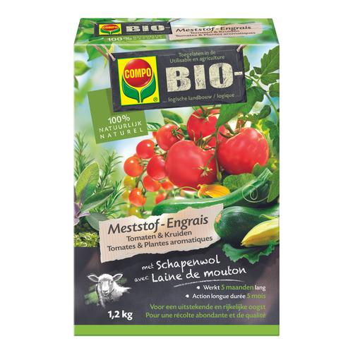 Compo Bio meststof tomaten & kruiden 1,2kg