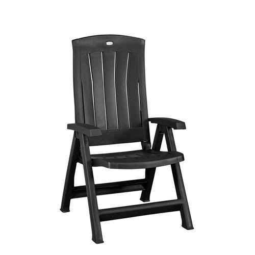 Chaise multi-positions Allibert Corfu graphite