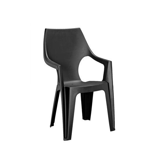 Chaise de jardin empilable Alibert Dante graphite