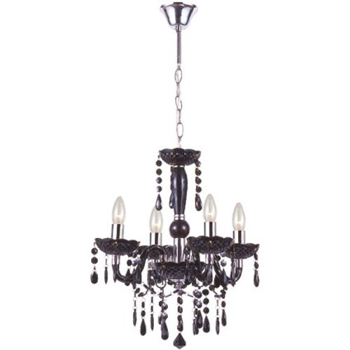 Globo kroonluchter cuimbra ø42cm 4-lichts zwart 4x40w