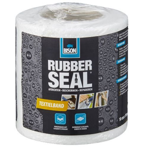 Bison rubber seal textielband 10cm x 10m