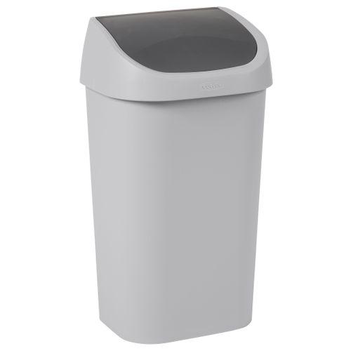 Poubelle Mistral Swing 50L PVC recyclé gris clair
