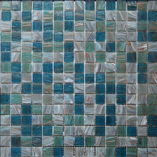 Mozaïekmat 33 x 33 cm blauw grijs 1 stuk