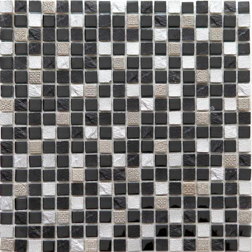 Feuille de mosaïque 30 x 30 cm mix noir 1 pcs