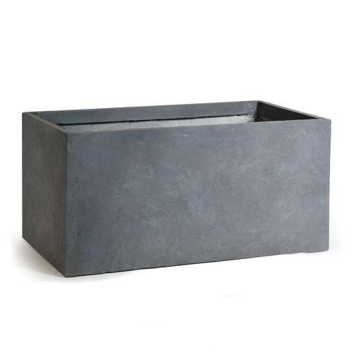Clayfibre rechthoekbak athentiek grijs 40cm