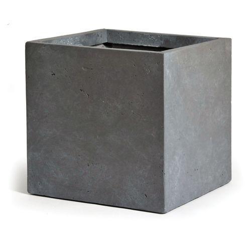 Clayfibre kubus athentiek grijs 23cm