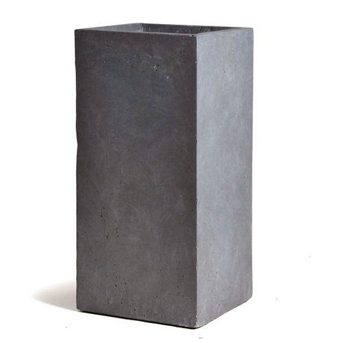 Clayfibre hoge kubus athentiek grijs 28cm