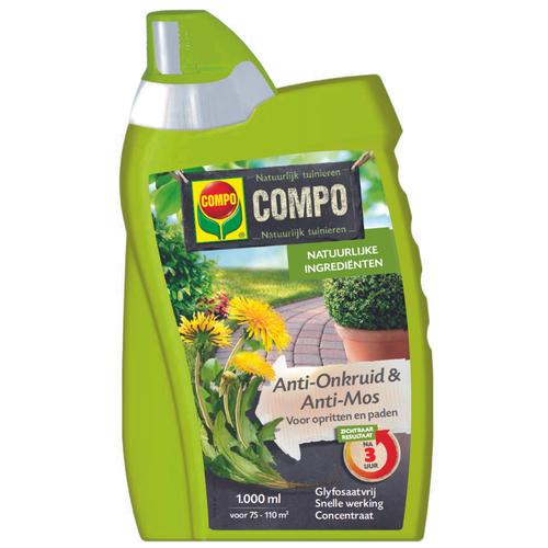 Compo Anti-Onkruid & Anti-mos Pad & Terras concentraat 1L