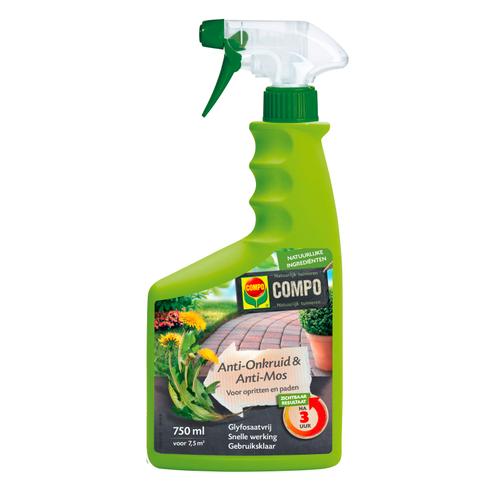 Compo Anti-Onkruid & Anti-Mos Paden & Terrassen Spray 750ml