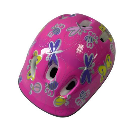 Kinderhelm fiets meisje roze
