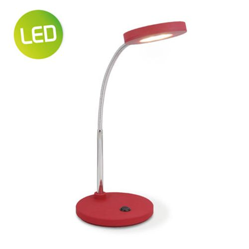 Lampe de bureau Home Sweet Home 'Polly' rouge 5,5W