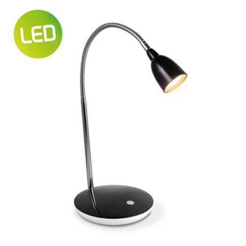 Lampe de bureau Home Sweet Home 'Flexy' noir 2,5W