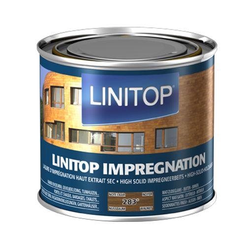 Linitop houtbeits 'Impregnation' notelaar 283 500ml