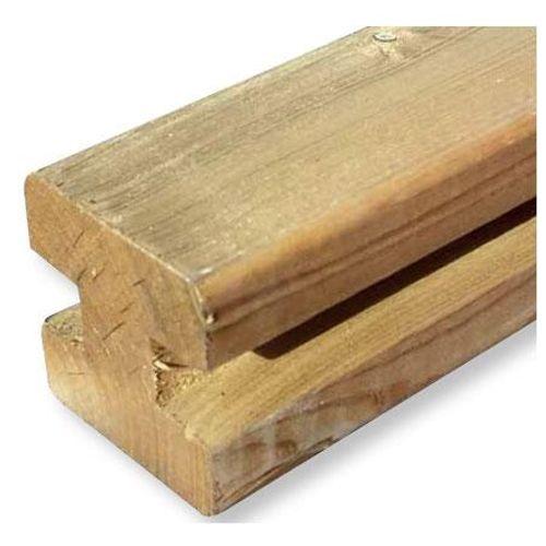 Poteau rainuré bois 240 x 9 x 9 cm