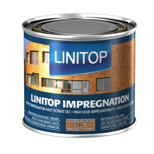 Linitop houtbeits 'Impregnation' midden eik 286 500ml