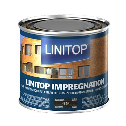 Linitop houtbeits 'Impregnation' ebbenhout 287 500ml