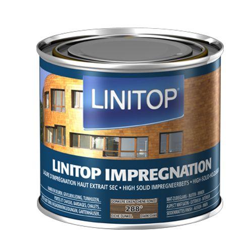 Linitop houtbeits 'Impregnation' donkere eik 288 500ml